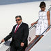 Viktor and Amalija Knavs, the parents of the first lady, Melania Trump, departing Air Force One last year. They reportedly spend much of their time with the Trump family, and questions about their immigration status were raised in recent months as the administration pushed for stricter immigration policies.