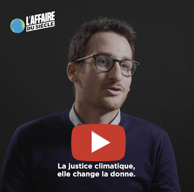 Interview vidéo d'Hugo Partouche, l'un des avocats de l'Affaire du Siècle