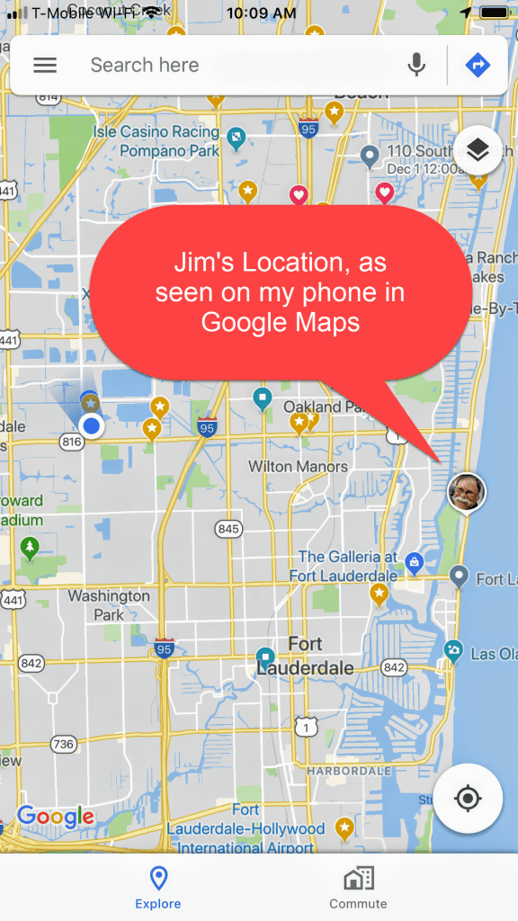 Sharing location with Google Maps