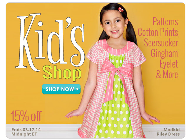 15% off in our Kid's Shop Sale