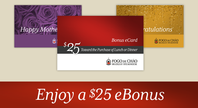 Enjoy a $25 eBonus