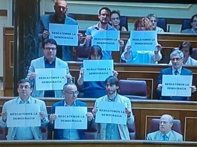 Los diputados de la Izquierda Plural (IU-ICV-CHA), el PNV, Esquerra Republicana de Catalunya (ERC) y el Bloque Nacionalista Galego (BNG).