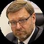 Konstantín Kosachev, jefe del Comité de Asuntos Internacionales de la Cámara Alta de Parlamento ruso