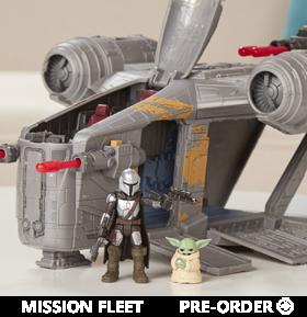 Star Wars Mission Fleet Deluxe Razor Crest Set