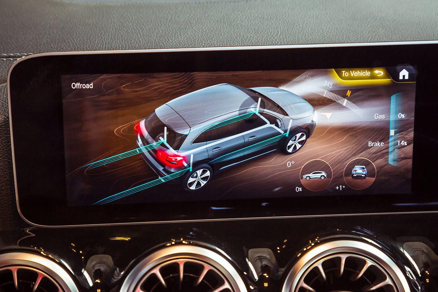 Mercedes-Benz GLA display