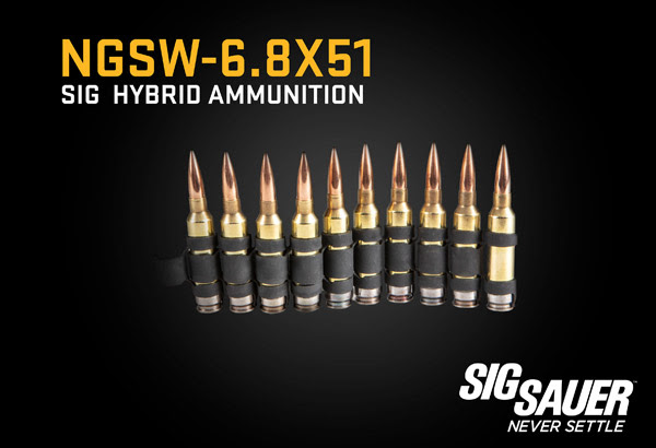6.8mm hybrid ammunition in conventional disintegrating links
