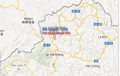 Bản đồ trại Quyết Tiến Hà Giang