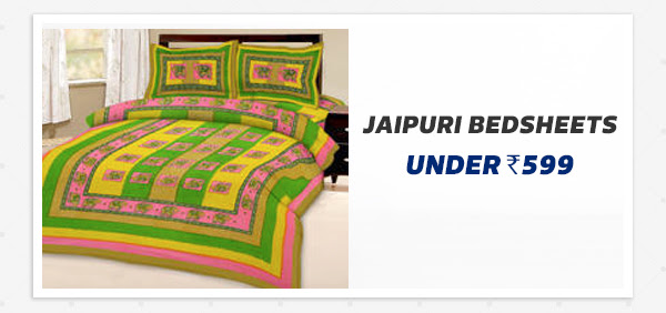 Jaipuri Bedsheets under Rs.599