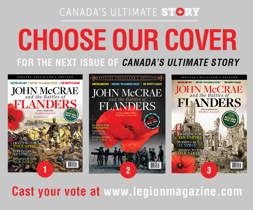 Choose our next cover of Canada's Ultimate Story