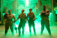 "The new ""Ghostbusters,"" from left, Melissa McCarthy, Kate McKinnon, Kristen Wiig and Leslie Jones."