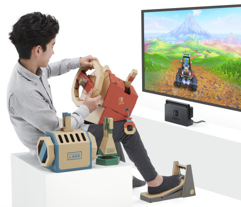 Nintendo Labo: Vehicle Kit. Buckle up for adventure while sitting in the driver's seat!
