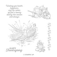 Pleasant Phesants Clear-Mount Stamp Set