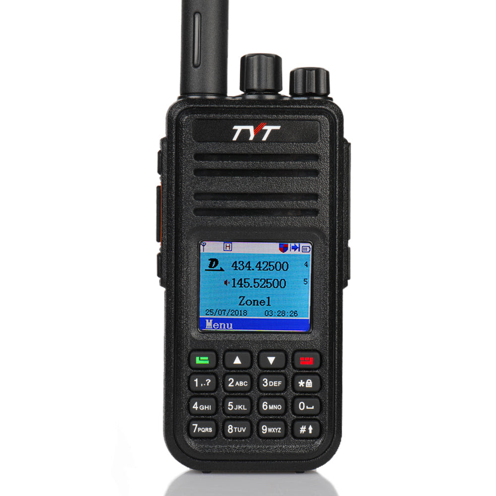Image of TYT MD-UV380G | Dual Band | GPS DMR | 2000mAh | Cable & Tube Earpiece