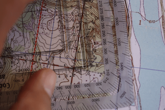 land navigation measuring distance on topo topographic map