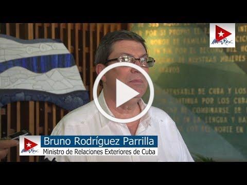 Declaraciones del Canciller, Bruno Rodríguez, sobre la aplicación Título III de la Ley Helms-Burton