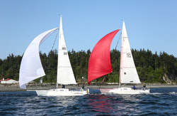 J/105s sailing Seattle