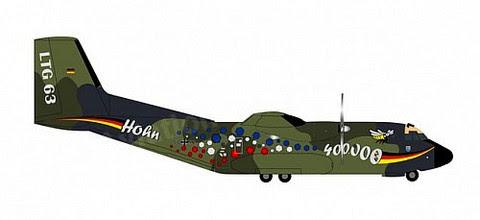 570909   Herpa Wings 1:200 1:200   Transall C-160 German Air Force 50+72 (die-cast)   is due: August 2020
