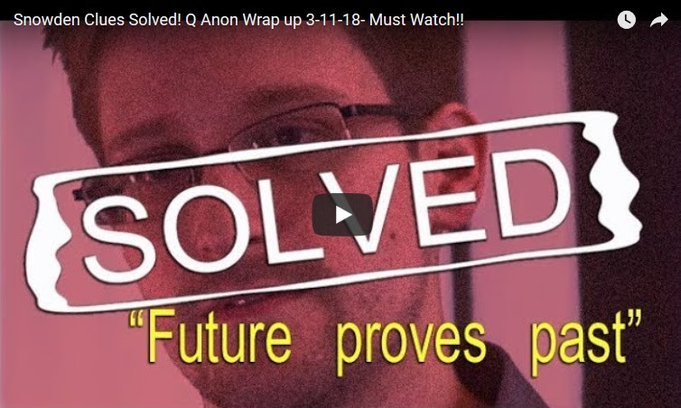 Snowden Clues Solved - Q Anon Wrap up 3-11-18 - Must Watch