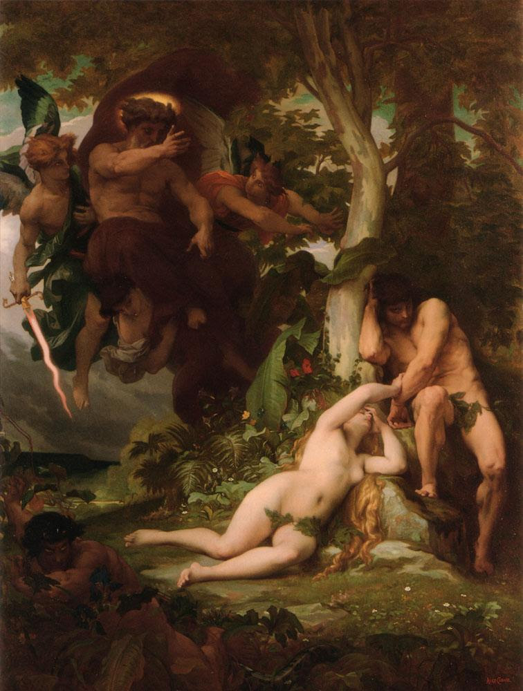 The Expulsion of Adam and Eve from the Garden of Paradise - Alexandre  Cabanel - oil painting reproduction - China Oil Painting Gallery
