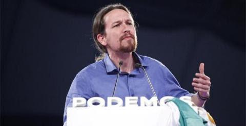 El líder de Podemos, Pablo Iglesias, durante su intervención en el acto de cierre de campaña de las elecciones andaluzas del 22-M. PODEMOS