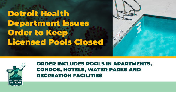 COVID Health Department Issues Order to Keep Pools Closed