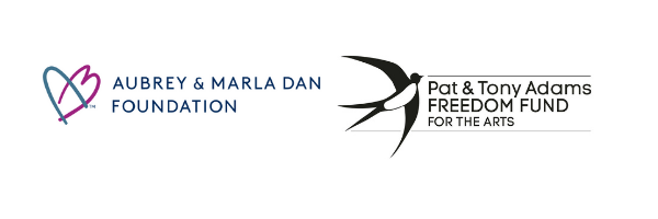 Aubrey and Marla Dan Foundation logo and Pat and Tony Adams Freedom Fund logo.