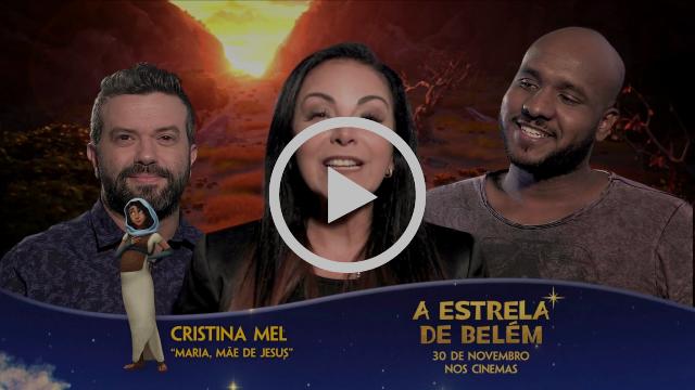 Caíque Oliveira, Cristina Mel e Vini Rodrigues apresentam personagens do filme A Estrela de Belém