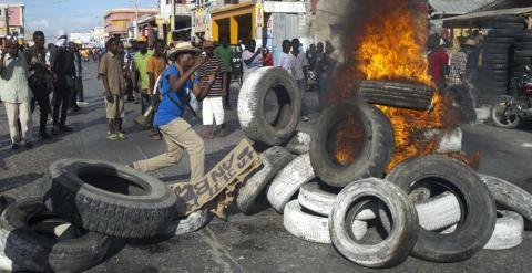 Protesta contra el Gobierno de Martelly en Puerto Príncipe. - AFP