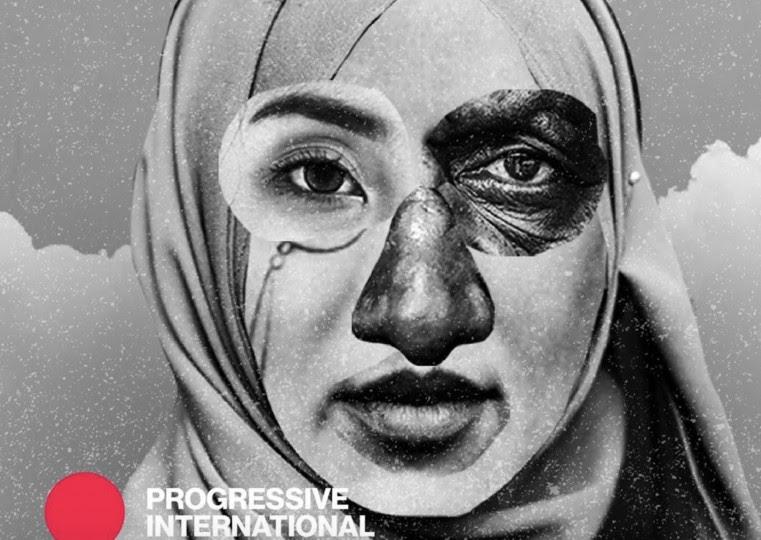 <p>Ilustración de Gabriel Silveira para la Internacional progresista.</p>