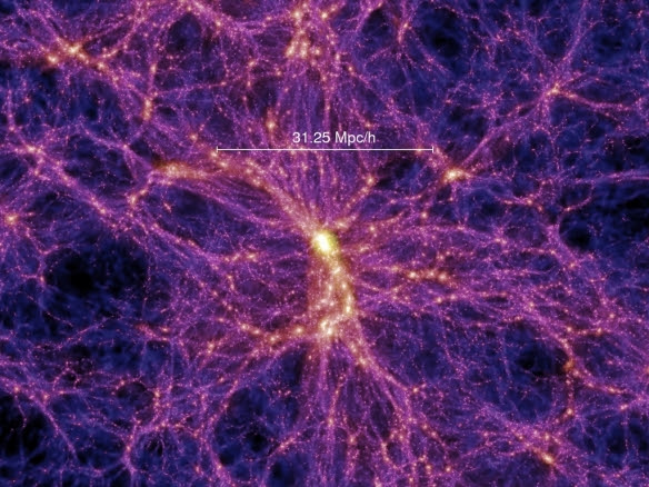 Image result for first image of dark matter filaments