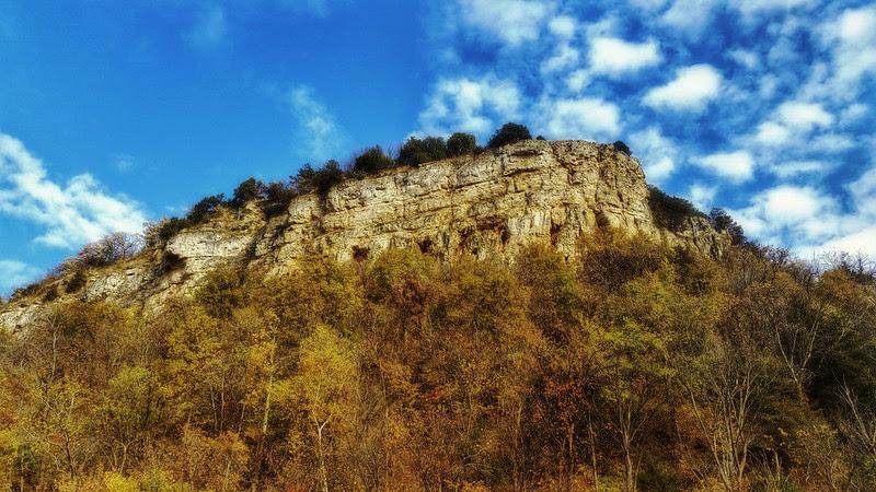 View of Maiden Rock Bluff's namesake bluff