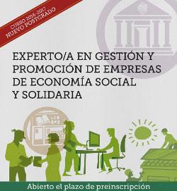 """Curso de Postgrado """"Experto/a en Gestión y Promoción de Empresas de Economía Social y Solidaria"""" de la UCM"""