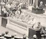 Wilson devant le Congrès en 1919