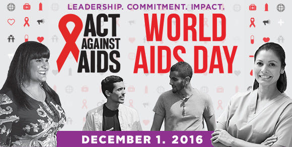 Act Against Aids World Aids Day