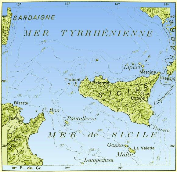 Connaitre la mer et les navires - chroniques et actu Seuil-Sicile-Tunisie