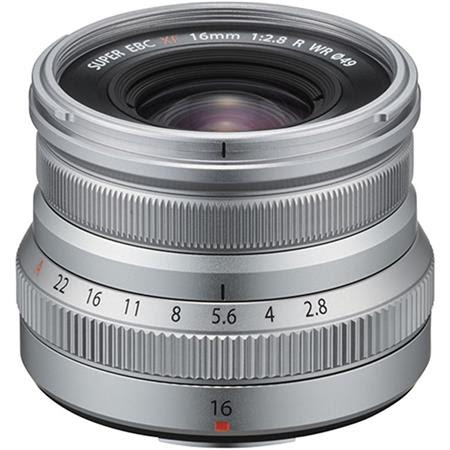 XF 16mm F2.8 R (Weather Resistant) Lens, Silver