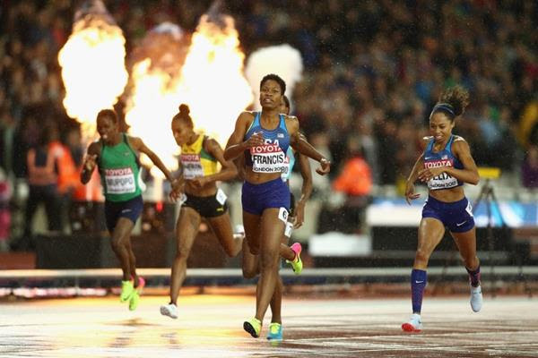 Phyllis Francis winning the women's 400m at the IAAF World Championships London 2017 (Getty Images)
