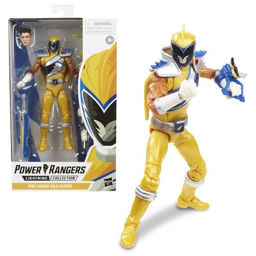 Image of Power Rangers Lightning Collection Wave 3 Dino Charge Gold Ranger 6-Inch Action Figure