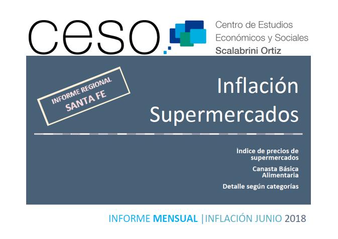 Tapa informe inflación supermercados Santa Fe - Junio 2018