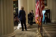 Hillary Clinton at the New-York Historical Society on Friday.
