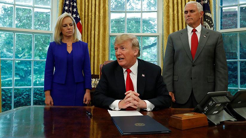 Trump firma orden ejecutiva para acabar con la separación de las familias de migrantes irregulares
