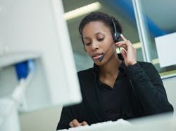 photo of a woman on a conference call