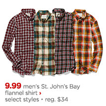 st johns bay flannel shirt