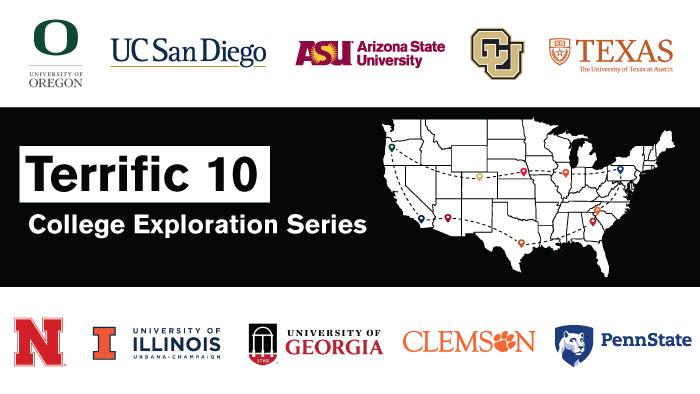 Terrific 10 College Exploration Series