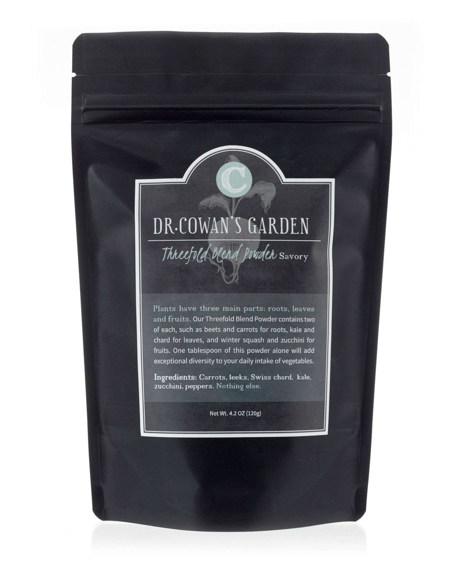 Image of Dr. Cowan's Garden Threefold Blend Powder (Savory) - Refill Pouch