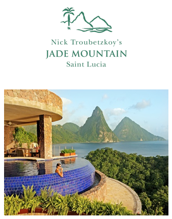 Jade Mountain National Featured in Geographic's World's Most Romantic Destinations