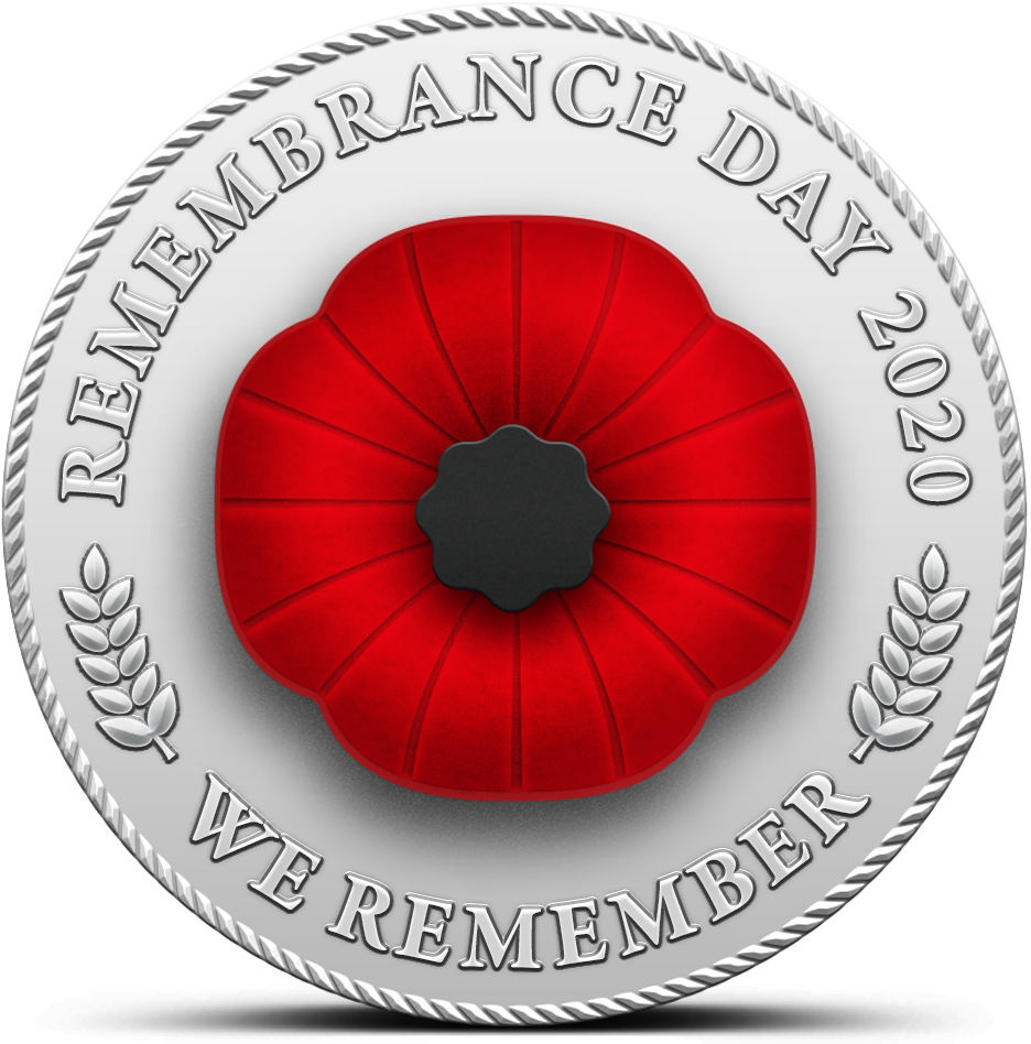 Remembrance Day - Poppy Badge - 2020 We Remember