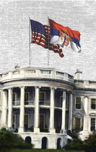Serbian flag white house 1918