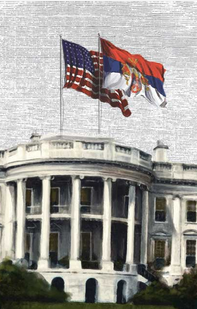 Serbian flag white house 1918