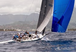 J/125 sailing off Hawaii in Pacific Cup
